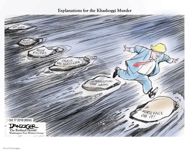 Cartoonist Jeff Danziger  Jeff Danziger's Editorial Cartoons 2018-10-19 investigate