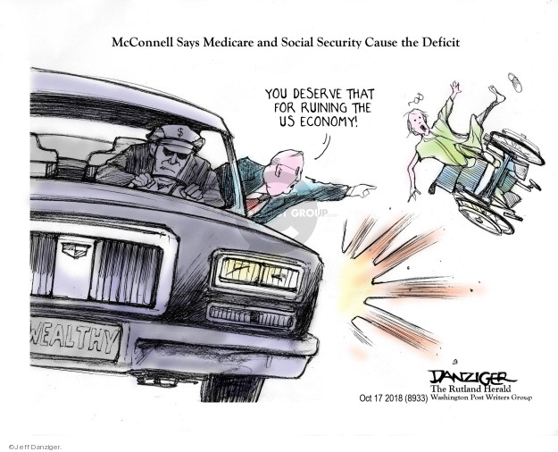Cartoonist Jeff Danziger  Jeff Danziger's Editorial Cartoons 2018-10-21 federal debt