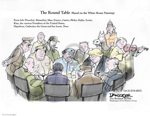 Cartoonist Jeff Danziger  Jeff Danziger's Editorial Cartoons 2018-10-24 White House