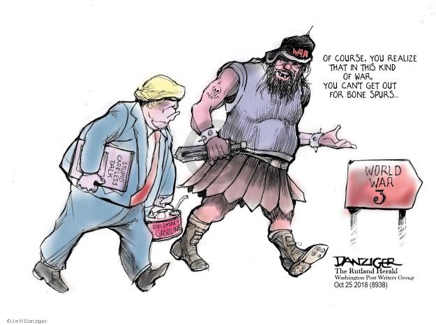 Cartoonist Jeff Danziger  Jeff Danziger's Editorial Cartoons 2018-10-26 gasoline