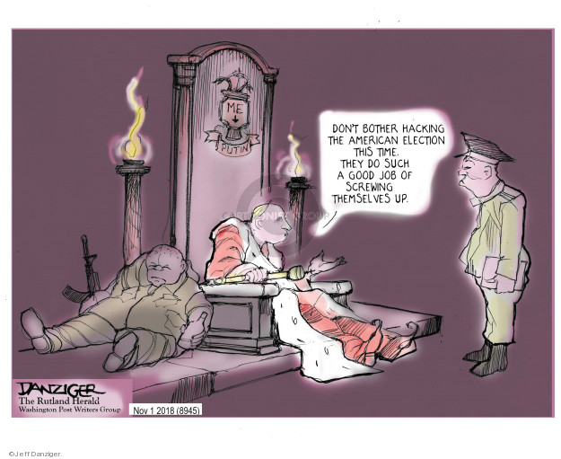 Jeff Danziger  Jeff Danziger's Editorial Cartoons 2018-11-01 interference