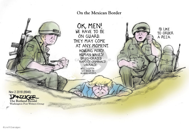 Cartoonist Jeff Danziger  Jeff Danziger's Editorial Cartoons 2018-11-03 migrant