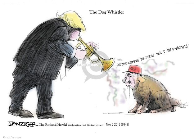 Cartoonist Jeff Danziger  Jeff Danziger's Editorial Cartoons 2018-11-06 race