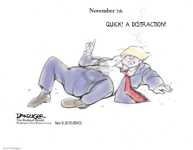 Cartoonist Jeff Danziger  Jeff Danziger's Editorial Cartoons 2018-11-07 Donald Trump Lawyers