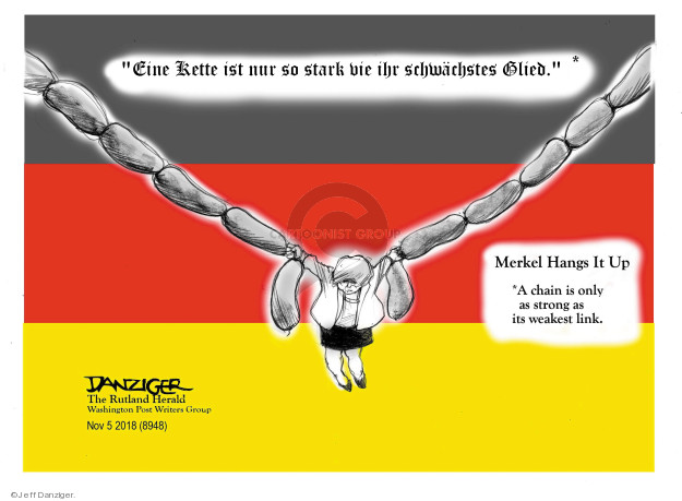 Cartoonist Jeff Danziger  Jeff Danziger's Editorial Cartoons 2018-11-08 German