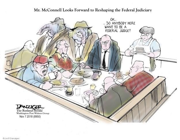 Cartoonist Jeff Danziger  Jeff Danziger's Editorial Cartoons 2018-11-09 Mitch