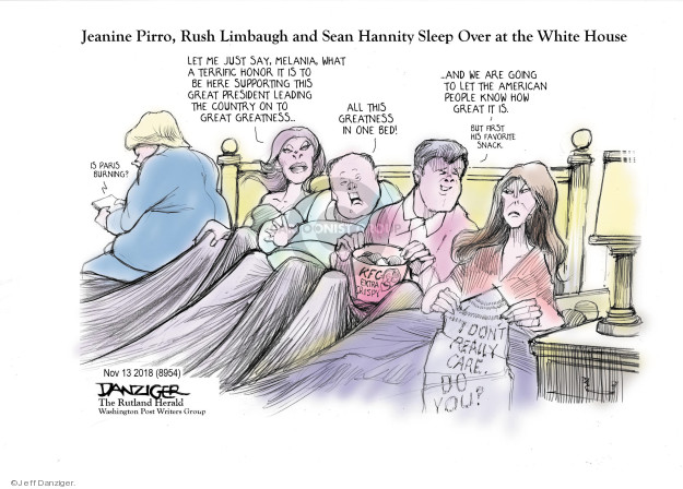Jeff Danziger  Jeff Danziger's Editorial Cartoons 2018-11-14 Donald Trump Sean Hannity