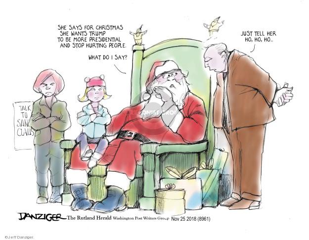 Jeff Danziger  Jeff Danziger's Editorial Cartoons 2018-11-24 Presidency