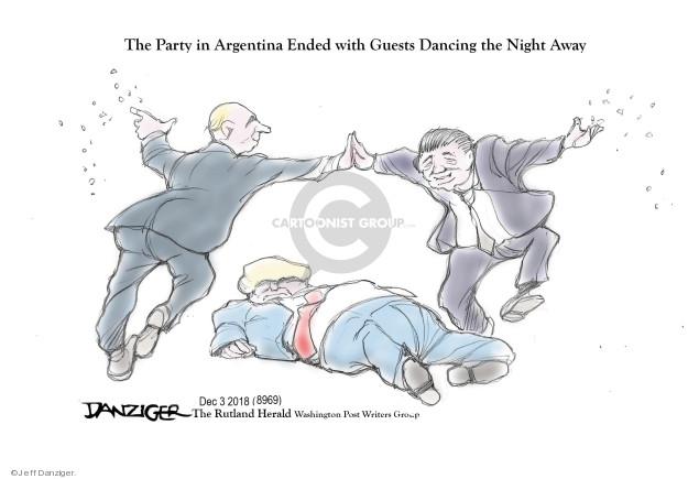 Cartoonist Jeff Danziger  Jeff Danziger's Editorial Cartoons 2018-12-04 party