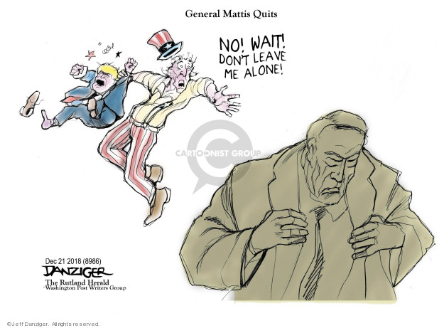 Cartoonist Jeff Danziger  Jeff Danziger's Editorial Cartoons 2018-12-23 secretary