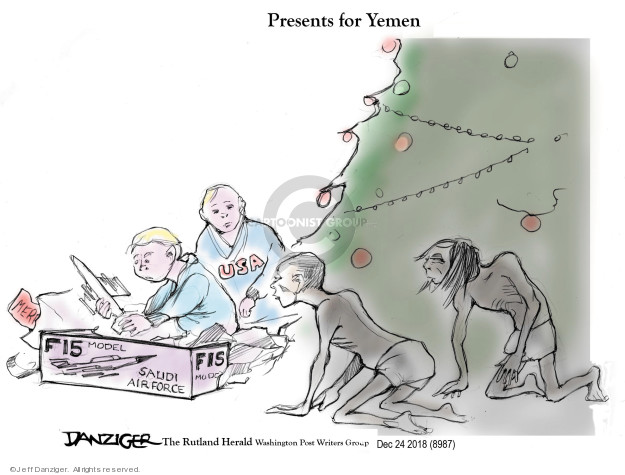 Cartoonist Jeff Danziger  Jeff Danziger's Editorial Cartoons 2018-12-24 arms