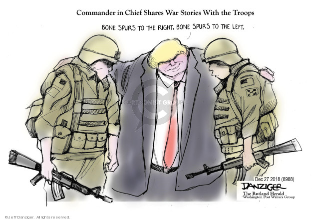 Cartoonist Jeff Danziger  Jeff Danziger's Editorial Cartoons 2018-12-27 chief