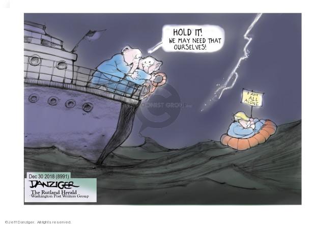 Cartoonist Jeff Danziger  Jeff Danziger's Editorial Cartoons 2018-12-31 leadership