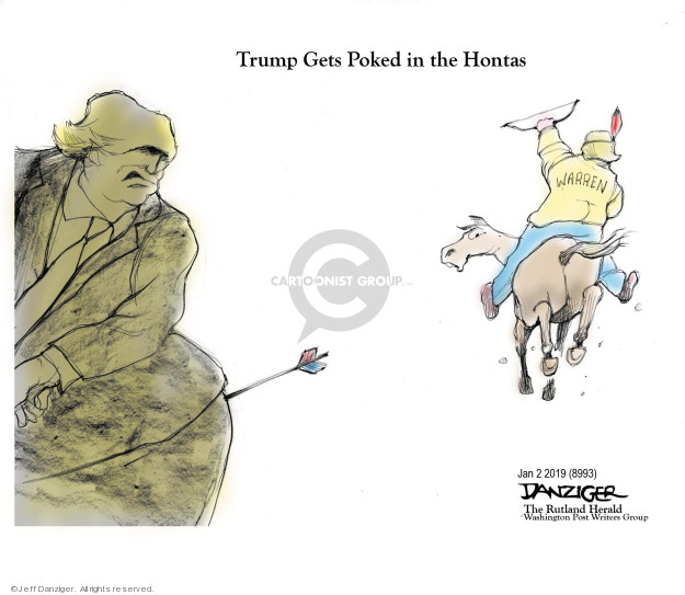 Cartoonist Jeff Danziger  Jeff Danziger's Editorial Cartoons 2019-01-02 Native American