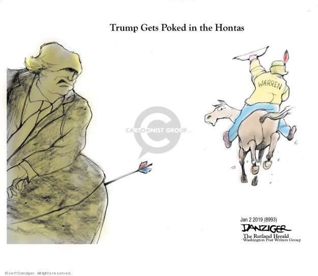 Cartoonist Jeff Danziger  Jeff Danziger's Editorial Cartoons 2019-01-02 American Indian