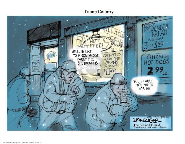 Cartoonist Jeff Danziger  Jeff Danziger's Editorial Cartoons 2019-01-08 responsibility