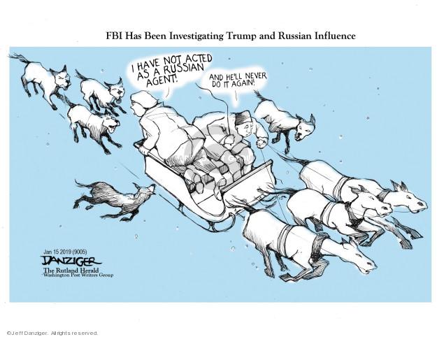 Jeff Danziger  Jeff Danziger's Editorial Cartoons 2019-01-17 interference