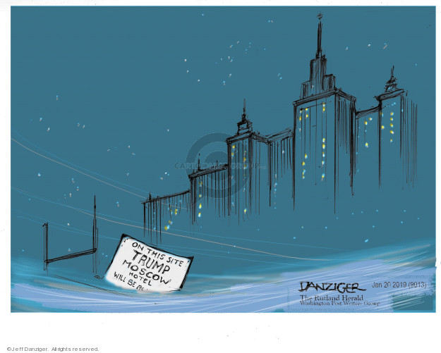 Cartoonist Jeff Danziger  Jeff Danziger's Editorial Cartoons 2019-01-22 deal
