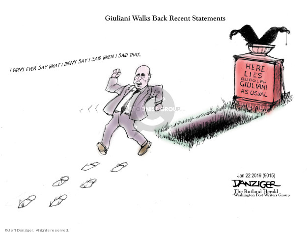 Cartoonist Jeff Danziger  Jeff Danziger's Editorial Cartoons 2019-01-24 back