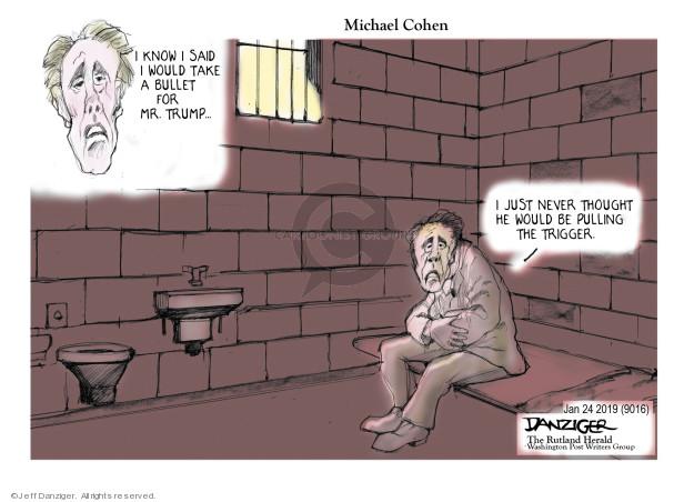 Cartoonist Jeff Danziger  Jeff Danziger's Editorial Cartoons 2019-01-25 testimony