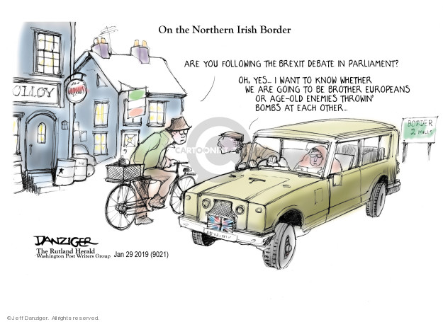 Cartoonist Jeff Danziger  Jeff Danziger's Editorial Cartoons 2019-01-30 throw