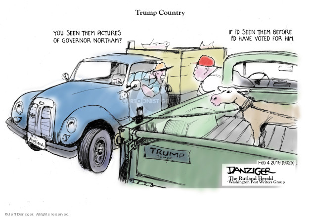 Cartoonist Jeff Danziger  Jeff Danziger's Editorial Cartoons 2019-02-05 political scandal