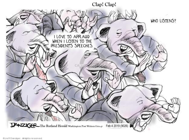 Jeff Danziger  Jeff Danziger's Editorial Cartoons 2019-02-06 speech