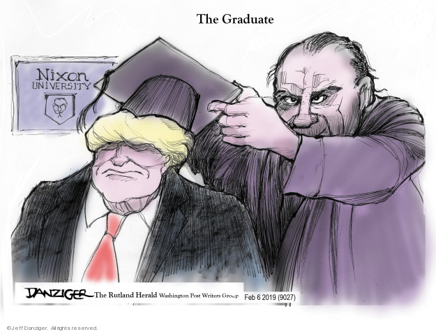 Cartoonist Jeff Danziger  Jeff Danziger's Editorial Cartoons 2019-02-07 Richard Nixon