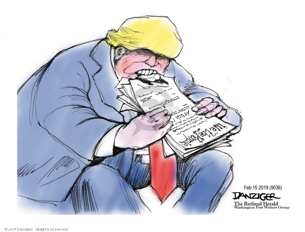 Cartoonist Jeff Danziger  Jeff Danziger's Editorial Cartoons 2019-02-16 Constitution