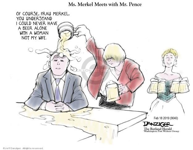 Cartoonist Jeff Danziger  Jeff Danziger's Editorial Cartoons 2019-02-19 meeting