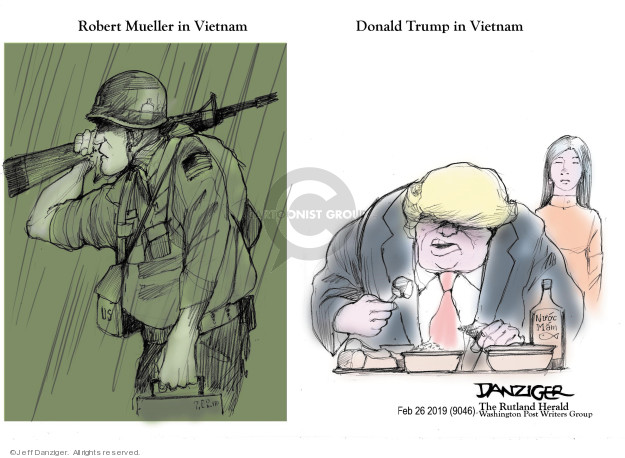 Cartoonist Jeff Danziger  Jeff Danziger's Editorial Cartoons 2019-02-28 nuclear weapon