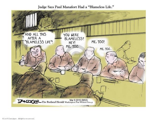 Cartoonist Jeff Danziger  Jeff Danziger's Editorial Cartoons 2019-03-10 chairman