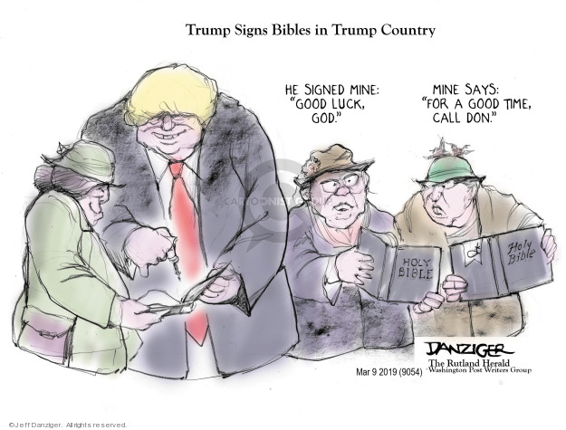 Cartoonist Jeff Danziger  Jeff Danziger's Editorial Cartoons 2019-03-11 time