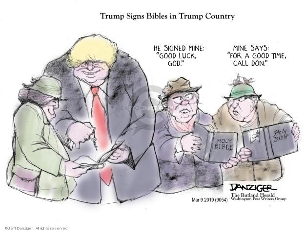 Cartoonist Jeff Danziger  Jeff Danziger's Editorial Cartoons 2019-03-11 religion