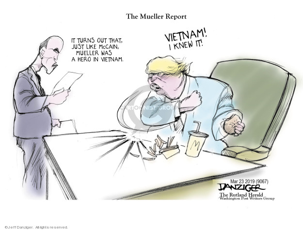 Cartoonist Jeff Danziger  Jeff Danziger's Editorial Cartoons 2019-03-23 special counsel