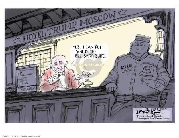 Cartoonist Jeff Danziger  Jeff Danziger's Editorial Cartoons 2019-03-25 Robert