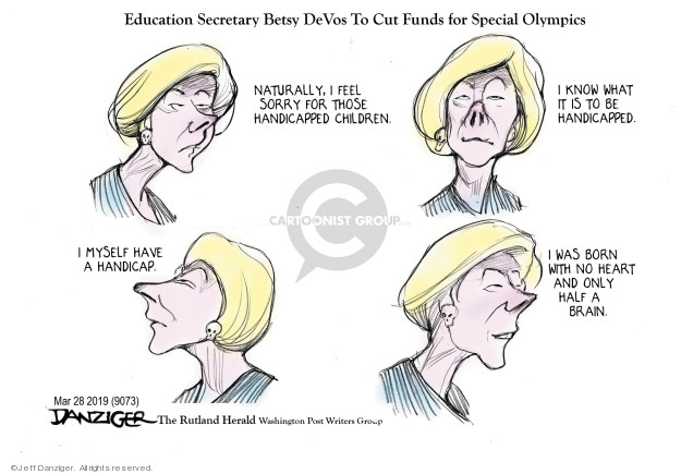 Cartoonist Jeff Danziger  Jeff Danziger's Editorial Cartoons 2019-03-28 Donald Trump Federal Budget