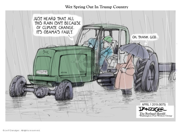 Cartoonist Jeff Danziger  Jeff Danziger's Editorial Cartoons 2019-04-02 change