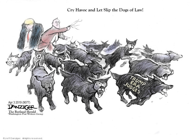 Cartoonist Jeff Danziger  Jeff Danziger's Editorial Cartoons 2019-04-04 bias
