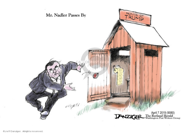 Cartoonist Jeff Danziger  Jeff Danziger's Editorial Cartoons 2019-04-08 Robert