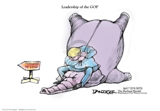 Cartoonist Jeff Danziger  Jeff Danziger's Editorial Cartoons 2019-04-09 republican party