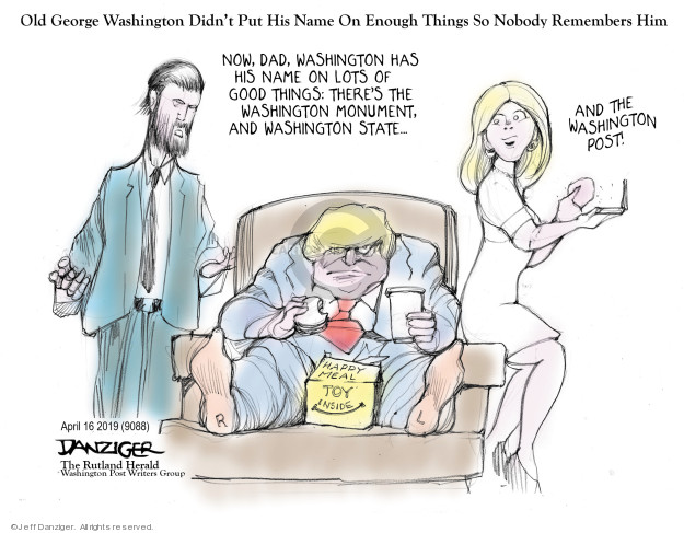 Cartoonist Jeff Danziger  Jeff Danziger's Editorial Cartoons 2019-04-17 name