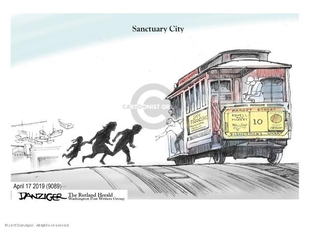 Cartoonist Jeff Danziger  Jeff Danziger's Editorial Cartoons 2019-04-18 immigration
