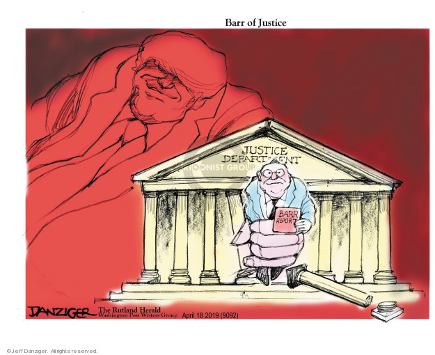 Cartoonist Jeff Danziger  Jeff Danziger's Editorial Cartoons 2019-04-21 Robert