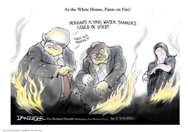 Cartoonist Jeff Danziger  Jeff Danziger's Editorial Cartoons 2019-04-22 press