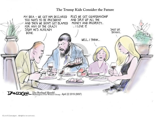 Cartoonist Jeff Danziger  Jeff Danziger's Editorial Cartoons 2019-04-26 idea