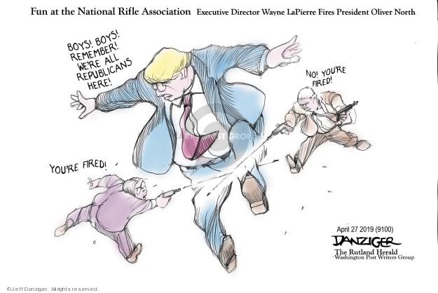 Cartoonist Jeff Danziger  Jeff Danziger's Editorial Cartoons 2019-04-30 gun rights