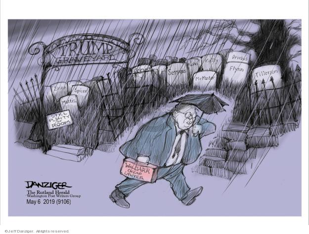 Cartoonist Jeff Danziger  Jeff Danziger's Editorial Cartoons 2019-05-05 staff