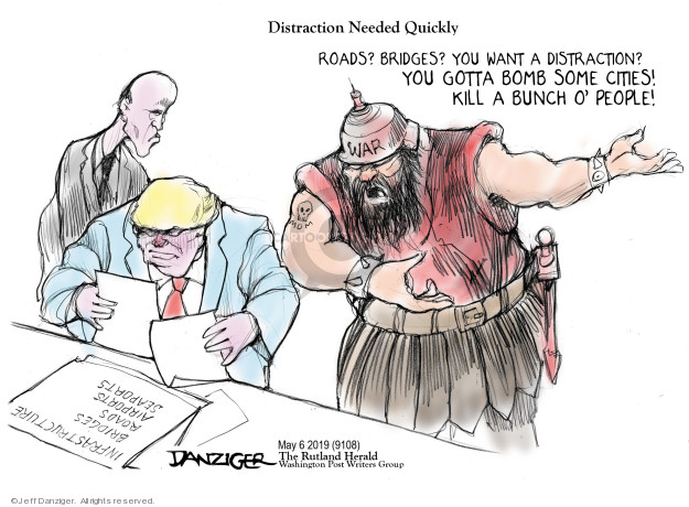 Cartoonist Jeff Danziger  Jeff Danziger's Editorial Cartoons 2019-05-07 political scandal