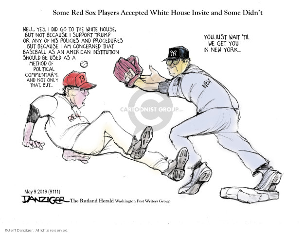 Cartoonist Jeff Danziger  Jeff Danziger's Editorial Cartoons 2019-05-10 championship